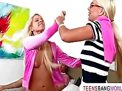 Nasty MILF Puma Swede fucking with teens