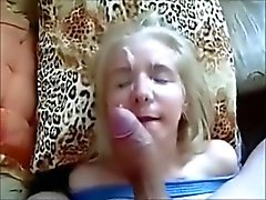 Wanking-off on Her #45 Finnish 18y.o. spunked by a Swede