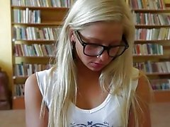 Bookworm girl anal ripped and gets paid