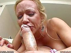 Austin Taylor Gagging On Huge Thick Cock