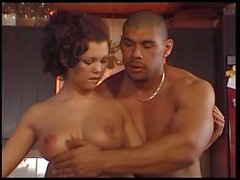 Busty beauty Aya gets tight wet pussy fucked in kitchen