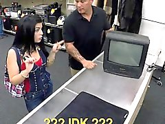 Pawn man fucked busty latina in the backroom for money