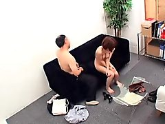 Sexy slender Oriental babe has a dirty old man fucking her