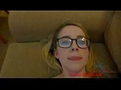 Giving a nerdy girl two creampies in Vegas americanteencam