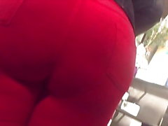 Candid 8(Mega booty in red pants)