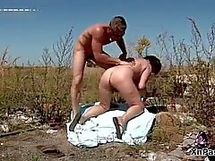 Dirty mature wife bends over and gets part5