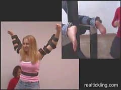RealTickling. Bonnie's Armpits & Feet Tickle Tortured