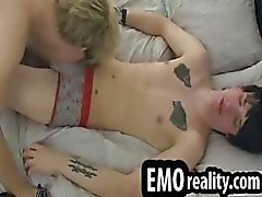 Emo twinks making out and undressing each other