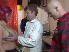 Hot Belgian Construction Site Gangbang