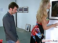 Sexy blonde mom Julia Ann gets big jugs fucked