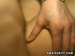 Nasty amateur girlfriend with 4 cocks and huge facials