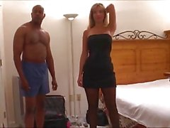 Wife Gangbanged with Husband on Phone. Creampie