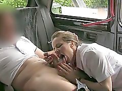 Stewardess Amica fucked with perv driver