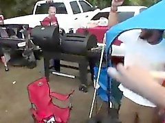 College Girl Outdoors Sucking Dick At Parking Lot Party