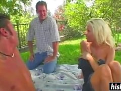 Stepmom Kelly Gets Pleasured By Two Studs