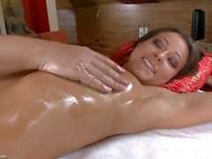 Melisa gets massage with ass fingering