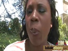 Hot ebony chick love gangbang interracial 20