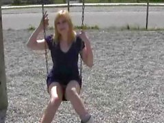 Playground antics with dirty blonde
