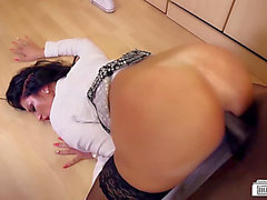 Darksome ramrod banging German secretary