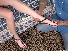 Cadence Lux Has Her Feet Worshipped and Covered in