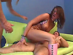 Tory lane with 2 large schlongs double anal