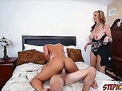 Fucking a hot latina maid with stepmom