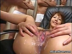 Cumming All Over Her Dirty Asian Pussy