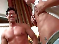 Brad Star, the blond hunky porn star gets blowjob from gorgeous Latino dude. Need I say more.